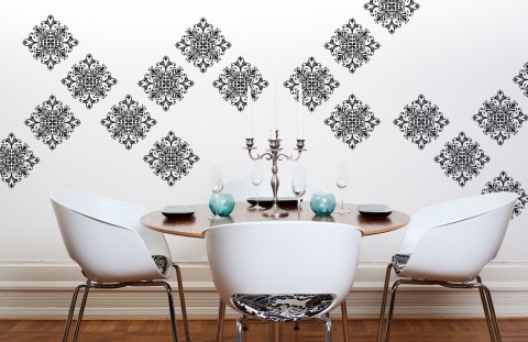 Byrdie Graphics Scroll Damask Wall Decal