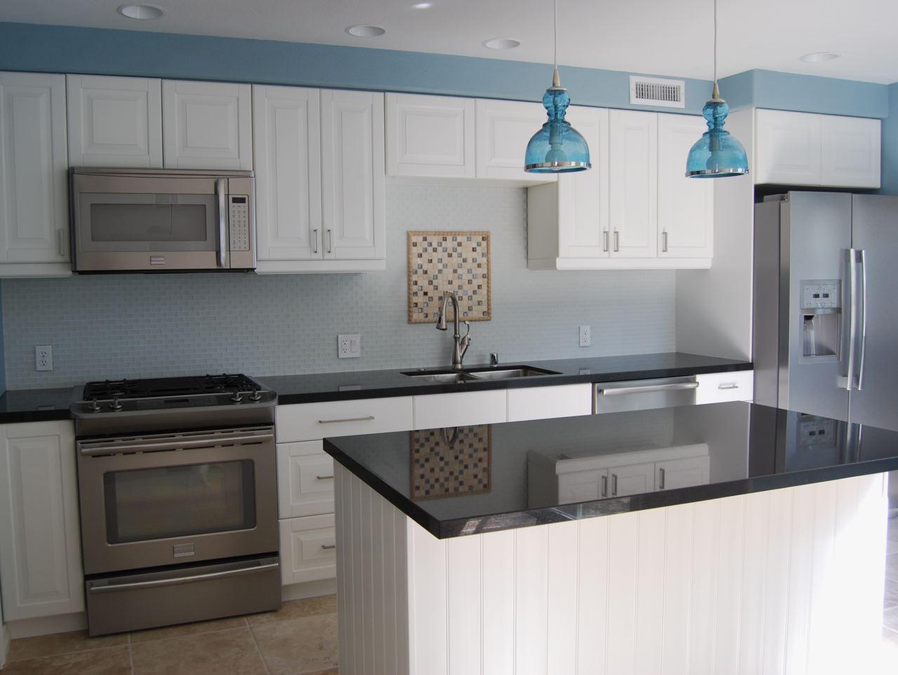 Kitchen Remodel Black Countertops
